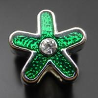 Strass Argent 8PCS Antique étoile en alliage vert Pendentif Charm 12mm Fabrication de bijoux 39758 fabrication de bijoux