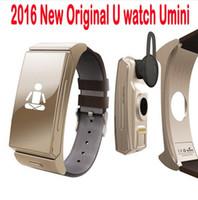 Nueva U mini reloj inteligente U20 Auricular Bluetooth Personal Smart Wearable Pulsera Monitor de ritmo cardíaco Cámara remota para iPhone Android