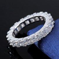 ORSA JEWELS Avusturya Kristal Parmak Yüzük En Kaliteli Kristal Güzel Yüzükler Platin Kaplama Yüzük Takı Kadınlar Için OR31