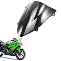 Double Bubble Windscreens Windshield ABS для Kawasaki Ninja 250R EX250 2008 2009 2010 2011 2012