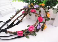 Guirnalda de papel Artificial Flor Boda Guirnalda de la playa Estambre Flor DIY Corona de Simulación de la Flor envío gratis BT019