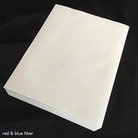 50 feuilles 75% coton 25% liaison de lin d'imprimante Pass Pass Pass Pen papier Test de haute qualité avec des types de fibre de couleur Types d'étanchéité A4 (JQ17)