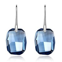 Big Blue Crystal de Swarovski Elements Boucles D'oreilles