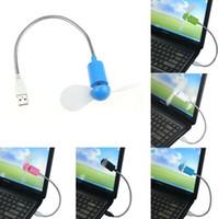 Mini ventilatore di raffreddamento flessibile USB ALKcar per computer portatile Computer portatile PC desktop portatile Angolo regolabile a bassa potenza USB Mini ventilatore