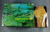 3 pcs frete grátis relógio de luxo mens para caixa de relógio original outer outer womans relógios caixas homens relógio de pulso caixa verde booklet cartão