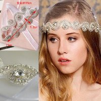 2020 Stokta ucuz Gelin Taç Tiaras Düğün Takı Bohemia Saç Aksesuarları Zarif Headpieces Gelin için Frontlet Saç Bandı Bantlar