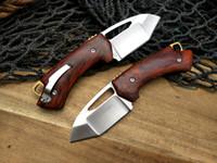 Coltello pieghevole Browning D2 in acciaio, Coltelli da sopravvivenza in legno rosso ombra, Coltello tascabile Mini tagliente molto potente, Coltello portachiavi regalo