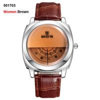 2016 горячей!Повседневная SKONE подлинная Мужчины Женщины бренд наручные часы специальный дизайн военная кожа спортивные часы Relogio Masculino