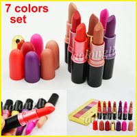 In stock 7 Colors Set M lipstick matte Makeup Luster Lipstic...
