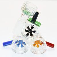 2Pcs 14mm 18,8mm Fiocco di neve con filtro in vetro per ciotole di vetro e bong in vetro