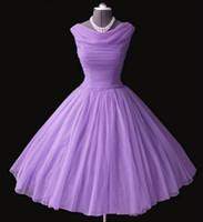 Em estoque new charme roxo curto vestidos de baile a linha bainha sem mangas formais vestidos de festa à noite qc194