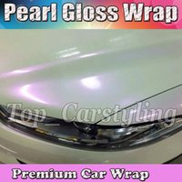 Chameleon Pearlecsent Glossy White / Pink Vinile Wrap With Air Release Pearl Gloss ORO Per Car wrap styling Cast Film dimensione 1.52x20m / Roll