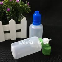 Cigarette électronique de gros pe 50ml bouteilles de eJuice bouchon compte-gouttes childproof de fermeture inviolable 50 ml bouteille d'aiguille eliquid port gratuits