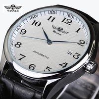 Gagnant Relojes Hombre Hommes Bracelet En Cuir Mécanique Montres Mode Casual Hommes Montre-Bracelet Horloge Mécanique En Gros Montres SLZc27