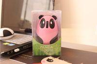 30 pezzi a borsa Mouse wireless USB Panda Panda 2.4G wireless ricaricabile, computer mouse wireless ricaricabile al litio incorporato