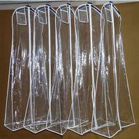 저렴한 판매 패션 웨딩 드레스 가방을 통해 볼 화이트 웨딩 액세서리 포장 가방 웨딩 드레스 의류 가방