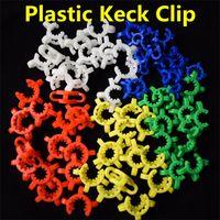 10 mm 14 mm 19 mm Taille joint en plastique Keck clip couleur en plastique Keck de laboratoire Lab Pince clip pour verre en verre Bong adaptateur Nector Collectar Kit