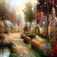 Thomas Kinkade Landscape Oil Painting Reproduction High Qual...