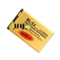 3 adet / grup 2450 mAh BL-5J BL 5J Altın Yedek Pil için Nokia Lumia 520 525 5800 5900XM 5228 5230 5232 5233 5235 5236 5238 5238 Piller