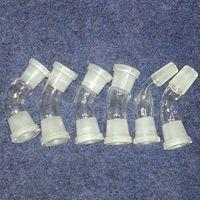 10 styles 45 DEGREE ANGLE verre bong ADAPTATEUR 18mm 14mm et femelle mâle choisir verre convoyeur 45 degrés 14.4mm 18.8mm