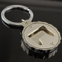 Metal Bottle Cap Shape Bottle Opener With Key Ring Custom Ep...