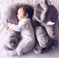 Toptan - Fil Burun Dolması Hayvanlar Bebek Yumuşak Peluş Sayfalar Oyuncaklar Bebek Hediyeler Yumuşak Lomber Yastıklar 33 * 28 cm A0280