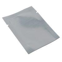18 * 26 см открытым верхом полупрозрачный алюминиевой фольги пакет сумка для партии сушеные продукты питания серебро / ясно тепла герметичный вакуумные пакеты пластиковый мешок