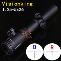Бесплатная доставка! Прицел Visionking 1.25-5x26, идеально подходит для .223 AR15 M16 Трехконтактный прицел
