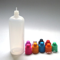 LDPE 120 мл пластиковые бутылки капельницы с ребенком доказательство крышки бутылки и наконечник иглы для E жидкость глаз Капли E жидкость бутылки
