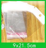 Borse di imballaggio poli appeso (9x21.5 cm) con sigillo autoadesivo Borsa opp sacchetto di copertura mobile all'ingrosso 1000pcs / lot