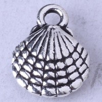 Shell Hanger DIY Sieraden Fit Armbanden of Ketting Legering Antiek Zilver / Brons Charms 750pcs / lot 96Z
