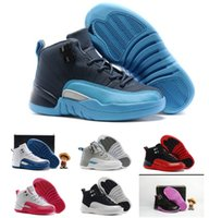 Kids j 12 Basketball Shoes children sport basketball sneaker...