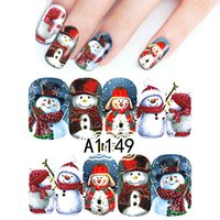 Wholesale- 1Sheet Colorful Christmas Cute Snowman Full Wraps...