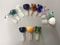 Mix-Stil Dicke Silde Glasschüssel Stück männlich 14mm 18mm Joint Schalen für Wasser Bubbler Rauchen Bongs Rauchen Zubehör für Bohrinsel Bongs