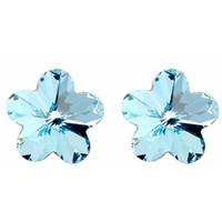 10mm Blume-Ohrmodenschmuck Kristall von Swarovski-Elementen Romantische Ohrstecker für Frauen Jubiläumsgeschenk weiß 1210