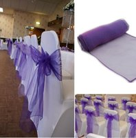30Pcs Lot Wedding Organza 18 x 275cm Organza Chair Cover Sas...