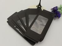 200 unids 156 * 90 * 15mm papel kraft negro Paquete de venta al por menor Cajas del teléfono Embalaje personalizado Caja de embalaje para iPhone 5 6 7 Galaxy S3 S4 Note2