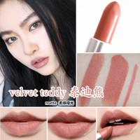 2020 nouvelle imperméable velours rouge à lèvres rouge sexy VELOURS TEDDY maquillage rouge à lèvres mat 3g Lipsticks doux parfum + Nom anglais