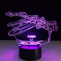 2017 X- wing Warship Night Lamp 3D Optical Lamp AA Battery DC...