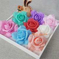 7CM Artificiale Rose Decorative PE Schiuma Capolino Per DIY Flower Wall Wedding Kissing Ball arco decorazione 9 colori