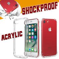 Coussin d'air transparent TPU acrylique Housse rigide pour iPhone XS Max XR X 8 7 6 Plus Samsung Galaxy S10 E 5G A10 A30 A40 A50 A60 A70 A80