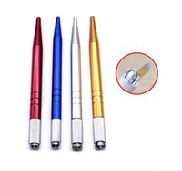 الجملة 100pcs التي الفضة المهنية ماكياج دائم القلم 3D ماكياج التطريز اليدوي القلم وشم الحاجب microblade الشحن المجاني