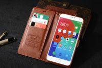 Nieuw voor meizu pro 5 case clip luxe flip portemonnee ultradunne schattige slanke kleurrijke originele cover lederen case voor Meizu Pro 5