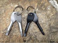 100 pcs ferramenta de bolso multifuncional chaveiro exterior EDC engrenagem chaveiros com fightted phillips cabeça mini chave de fenda conjunto de chaves