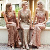 2017 длинные блестками платье невесты для свадьбы 3 смешанные стили V шеи без рукавов колонка развертки поезд свадебные платья гостей