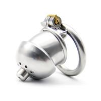 قفل جديد 304 الفولاذ المقاوم للصدأ الديك قفص صغير العفة جهاز A266-1