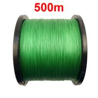 1 개 500 메터 546 야드 100 % PE 꼰 낚싯줄 녹색 4 가닥 브레이드 멀티 필라멘트 슈퍼 강한 낚싯줄 10LB-45LB