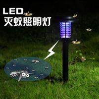 Luces solares lámpara blanca y violeta dos puestos al aire libre césped luces de jardín luces