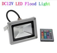 DC 12V 10W 20W 30W 50W Светодиодный прожектор открытый прожектор заливающего света пятно лампы RGB refletor привело FOCO внешней projecteur