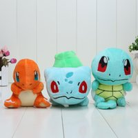 In Stok plush Gosanke Bulbasaur Charmander Squirtle 12- 14cm ...